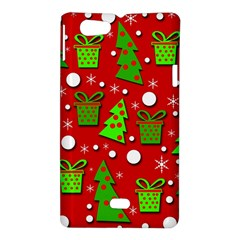 Christmas trees and gifts pattern Sony Xperia Miro