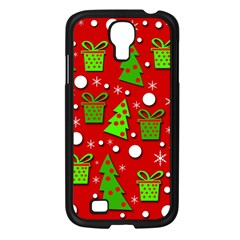 Christmas trees and gifts pattern Samsung Galaxy S4 I9500/ I9505 Case (Black)