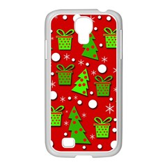 Christmas trees and gifts pattern Samsung GALAXY S4 I9500/ I9505 Case (White)