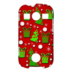 Christmas trees and gifts pattern Samsung Galaxy S7710 Xcover 2 Hardshell Case