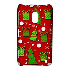 Christmas trees and gifts pattern Nokia Lumia 620