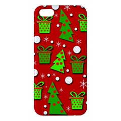 Christmas trees and gifts pattern iPhone 5S/ SE Premium Hardshell Case