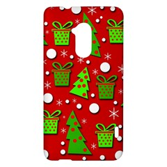 Christmas trees and gifts pattern HTC One Max (T6) Hardshell Case