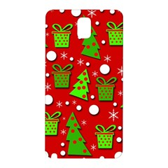 Christmas trees and gifts pattern Samsung Galaxy Note 3 N9005 Hardshell Back Case