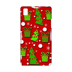 Christmas trees and gifts pattern Sony Xperia Z1