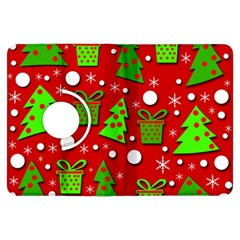 Christmas trees and gifts pattern Kindle Fire HDX Flip 360 Case