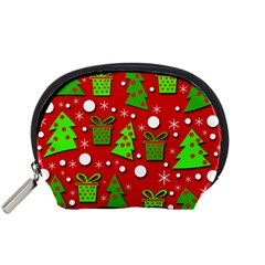 Christmas trees and gifts pattern Accessory Pouches (Small)