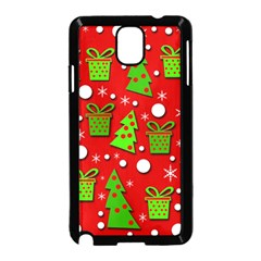 Christmas trees and gifts pattern Samsung Galaxy Note 3 Neo Hardshell Case (Black)