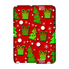 Christmas trees and gifts pattern Amazon Kindle Fire (2012) Hardshell Case