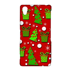 Christmas trees and gifts pattern Sony Xperia Z2