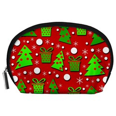 Christmas trees and gifts pattern Accessory Pouches (Large)