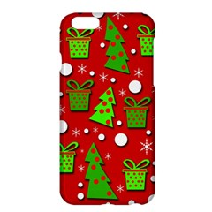 Christmas trees and gifts pattern Apple iPhone 6 Plus/6S Plus Hardshell Case