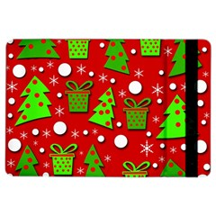 Christmas trees and gifts pattern iPad Air 2 Flip