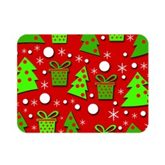Christmas trees and gifts pattern Double Sided Flano Blanket (Mini)