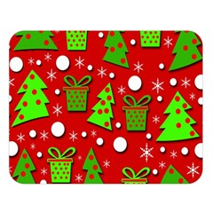 Christmas trees and gifts pattern Double Sided Flano Blanket (Large)
