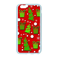 Christmas trees and gifts pattern Apple Seamless iPhone 6/6S Case (Color)