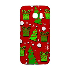 Christmas trees and gifts pattern Galaxy S6 Edge