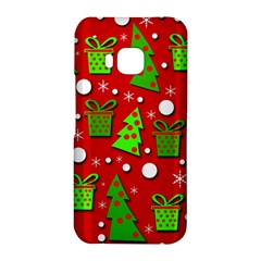 Christmas trees and gifts pattern HTC One M9 Hardshell Case