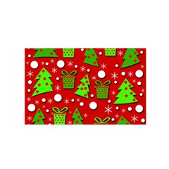 Christmas Trees And Gifts Pattern Satin Wrap
