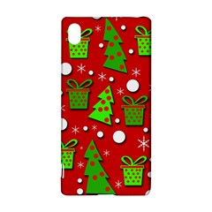 Christmas trees and gifts pattern Sony Xperia Z3+