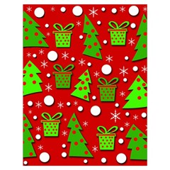 Christmas trees and gifts pattern Drawstring Bag (Large)