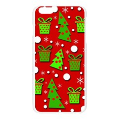 Christmas trees and gifts pattern Apple Seamless iPhone 6 Plus/6S Plus Case (Transparent)
