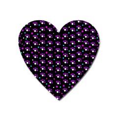 Purple dots pattern Heart Magnet