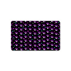 Purple dots pattern Magnet (Name Card)