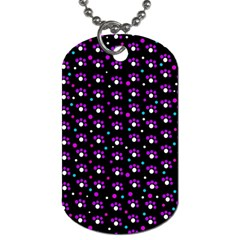 Purple dots pattern Dog Tag (Two Sides)