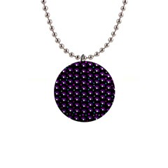 Purple dots pattern Button Necklaces