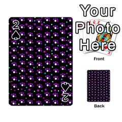 Purple dots pattern Playing Cards 54 Designs