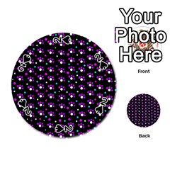 Purple dots pattern Playing Cards 54 (Round)