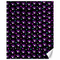 Purple dots pattern Canvas 11  x 14