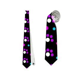 Purple dots pattern Neckties (Two Side)