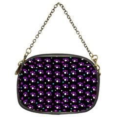 Purple dots pattern Chain Purses (Two Sides)