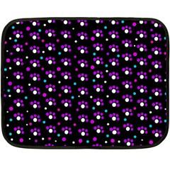 Purple dots pattern Fleece Blanket (Mini)