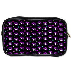 Purple dots pattern Toiletries Bags 2-Side