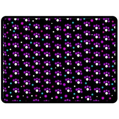 Purple dots pattern Fleece Blanket (Large)