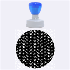 Purple Dots Pattern Rubber Round Stamps (large)
