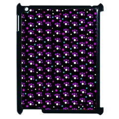 Purple dots pattern Apple iPad 2 Case (Black)