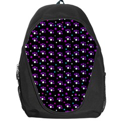 Purple Dots Pattern Backpack Bag
