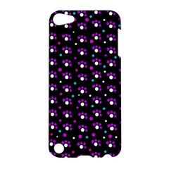 Purple dots pattern Apple iPod Touch 5 Hardshell Case