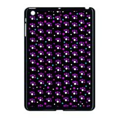 Purple dots pattern Apple iPad Mini Case (Black)