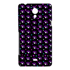 Purple dots pattern Sony Xperia T