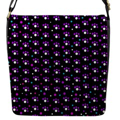 Purple dots pattern Flap Messenger Bag (S)