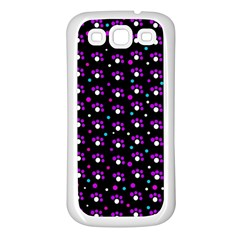 Purple dots pattern Samsung Galaxy S3 Back Case (White)