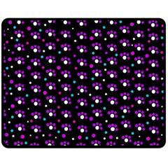 Purple dots pattern Double Sided Fleece Blanket (Medium)