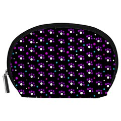 Purple dots pattern Accessory Pouches (Large)