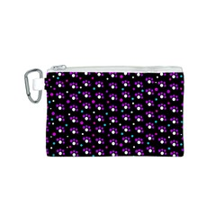 Purple dots pattern Canvas Cosmetic Bag (S)