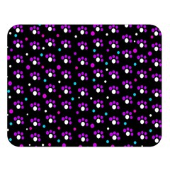 Purple dots pattern Double Sided Flano Blanket (Large)